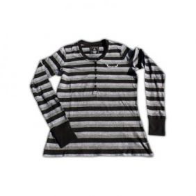 Antigua Grey Striped Long Sleeve